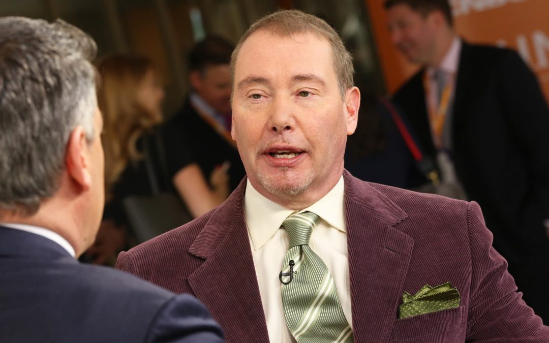 Jeff Gundlach says stock market valuations are extraordinarily high, supported only by the Fed